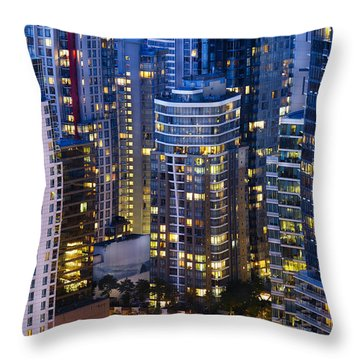 View Towards Coal Harbor Vancouver Mdxxvii  Throw Pillow