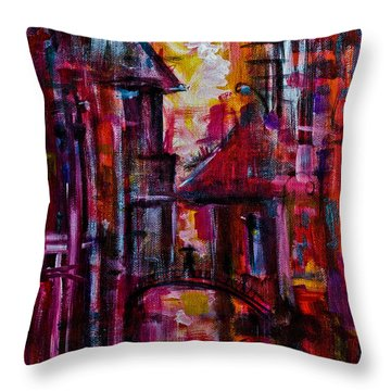 View With A Bridge Throw Pillow