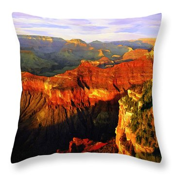 View - Yavapai Point Throw Pillow