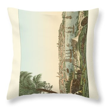 Views Of The City Of Sydney Throw Pillow