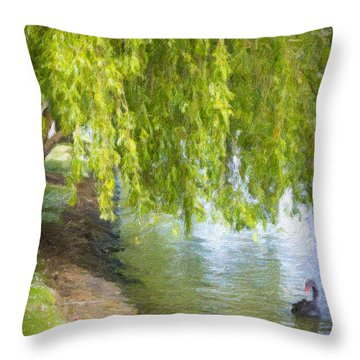 Views From The Lake V - Tranquility Throw Pillow