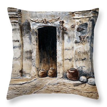 Vigan Door Throw Pillow