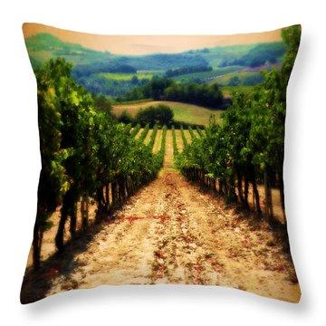 Vigneto Toscana Throw Pillow by Micki Findlay