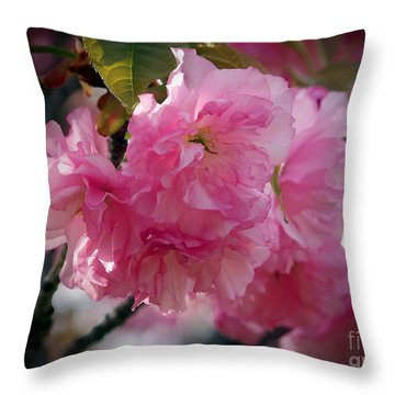 Vignette Cherry Blossom Throw Pillow