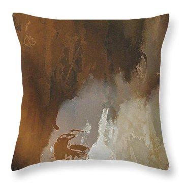 Vii - Mirky Wood Throw Pillow