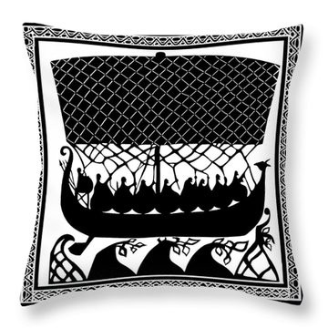 Viking Ancient Mariners Throw Pillow