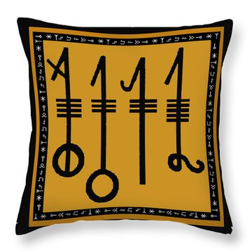 Throw Pillow featuring the digital art Viking Sleepthorn Spell by Vagabond Folk Art - Virginia Vivier