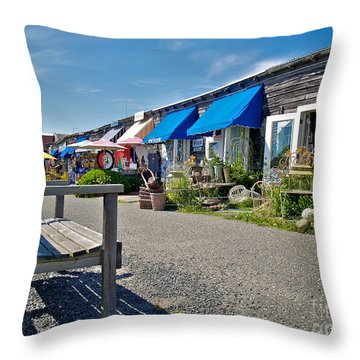 Viking Village Throw Pillow