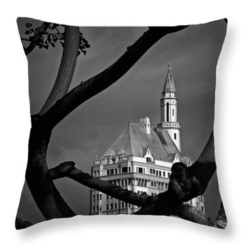 Throw Pillow featuring the photograph Villa Riviera by Joseph Hollingsworth