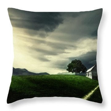 Village Throw Pillow by Bess Hamiti