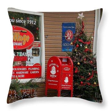 Village Christmas Throw Pillow