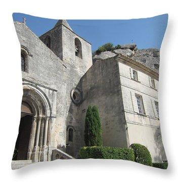 Village Church Throw Pillow by Pema Hou
