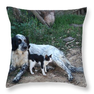 Village Guards Throw Pillow