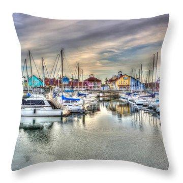 Village Throw Pillow by Heidi Smith