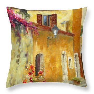 Village In Provence Throw Pillow by Chris Brandley