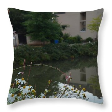 Village Life Throw Pillow by Cheryl Miller