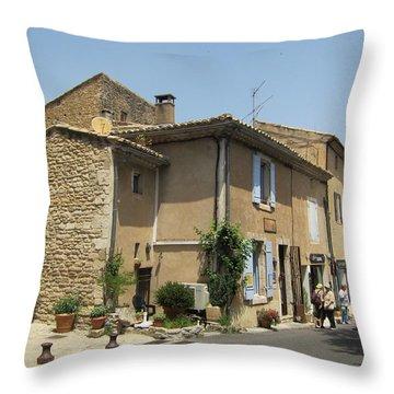 Village Life Throw Pillow by Pema Hou