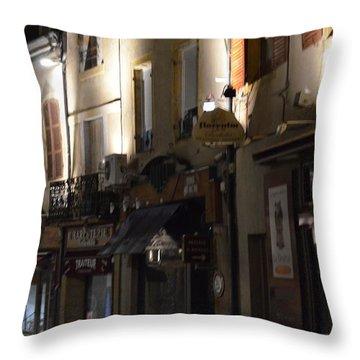 Village Nightscape Throw Pillow