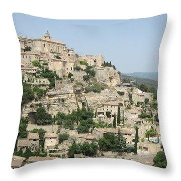Village Of Gordes Throw Pillow by Pema Hou