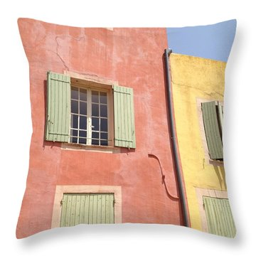 Village Of Roussillon France Throw Pillow by Pema Hou
