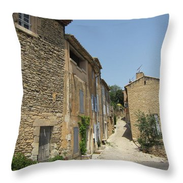 Village Road Throw Pillow by Pema Hou