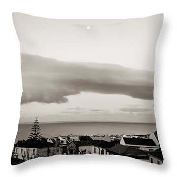 Village Rooftops At Sunrise Throw Pillow