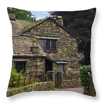 Village Street Grasmere Throw Pillow by Jane McIlroy