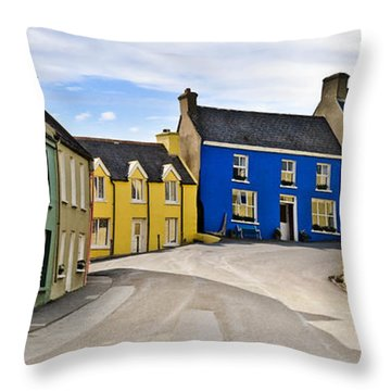 Throw Pillow featuring the photograph Village Street by Jane McIlroy