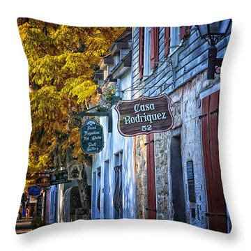 Village Streets Throw Pillow by Mary Lou Chmura