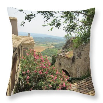 Throw Pillow featuring the photograph Village Vista by Pema Hou