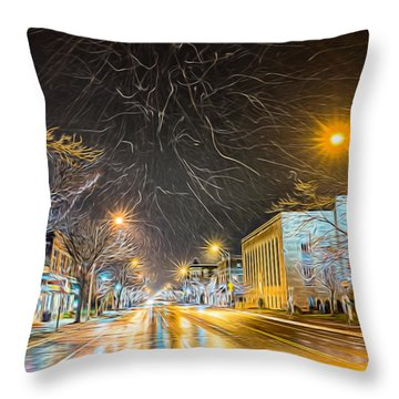 Village Winter Dream - Square Throw Pillow