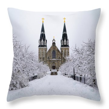 Villanova University In The Snow Throw Pillow