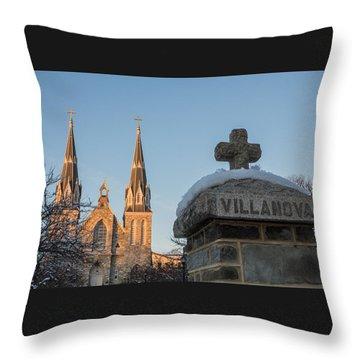 Villanova Wall And Chapel Throw Pillow