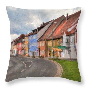Vilseck Marktplatz Throw Pillow