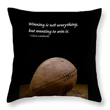 Vince Lombardi On Winning Throw Pillow