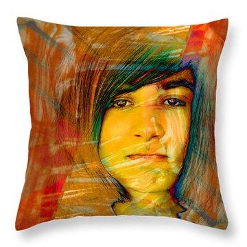 Yellow Boy Throw Pillow