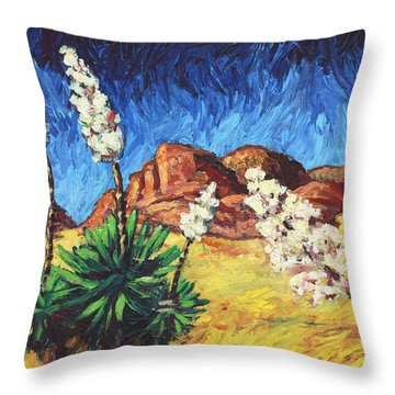 Vincent In Arizona Throw Pillow