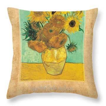 Vincent Van Gogh 2 Throw Pillow by Andrew Fare