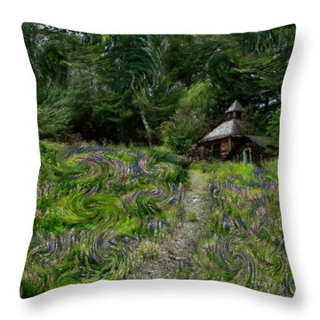 A Lupine Tale  Vincents View Throw Pillow