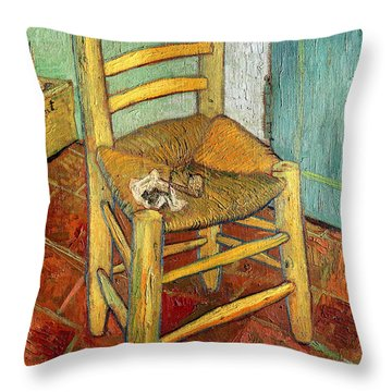 Vincent's Chair 1888 Throw Pillow by Vincent van Gogh
