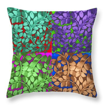 Vine Abstract Throw Pillow by Joan  Minchak
