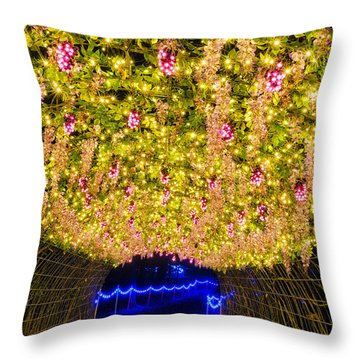 Vine Tunnel Throw Pillow