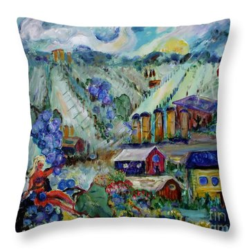 Vineyard #2  Throw Pillow by Avonelle Kelsey