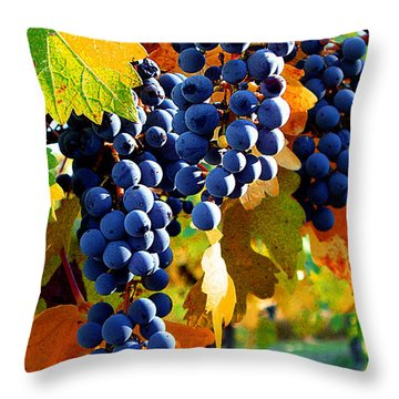 Vineyard 2 Throw Pillow by Xueling Zou