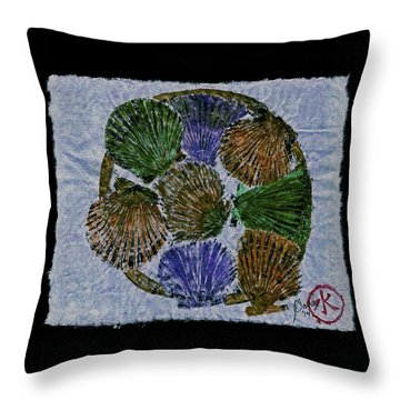 Vineyard Bay Scallops  Throw Pillow