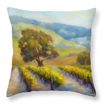 Vineyard Gold Throw Pillow