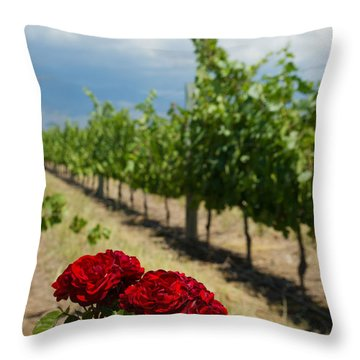 Vineyard Rose Throw Pillow