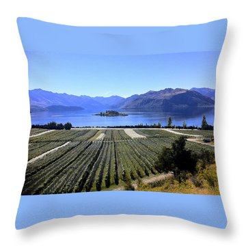 Vineyard View Of Ruby Island Throw Pillow