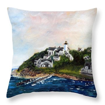 Vineyard Village Throw Pillow