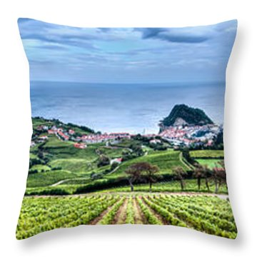 Vineyards By The Sea Throw Pillow
